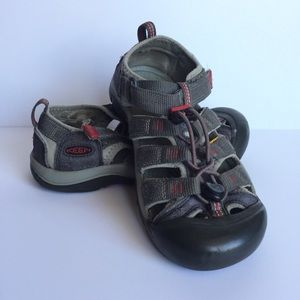KEEN Red and Grey Boy's Size 4